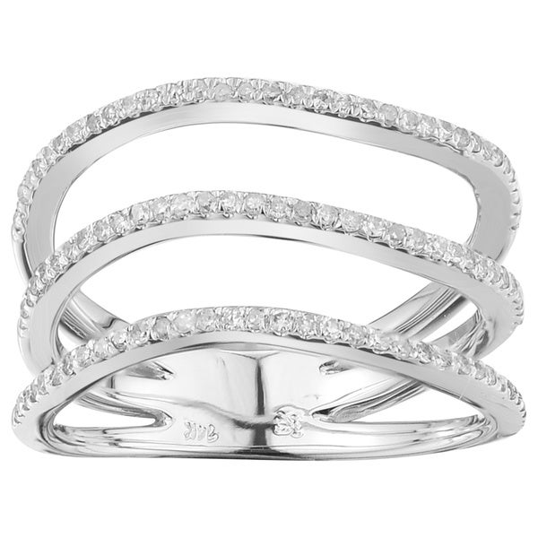 10k White Gold 1/3ct TDW White Diamond Fashion Ring (G-H,12-13)