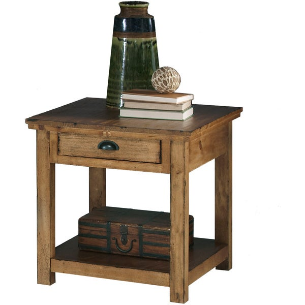 distressed finish end tables 2