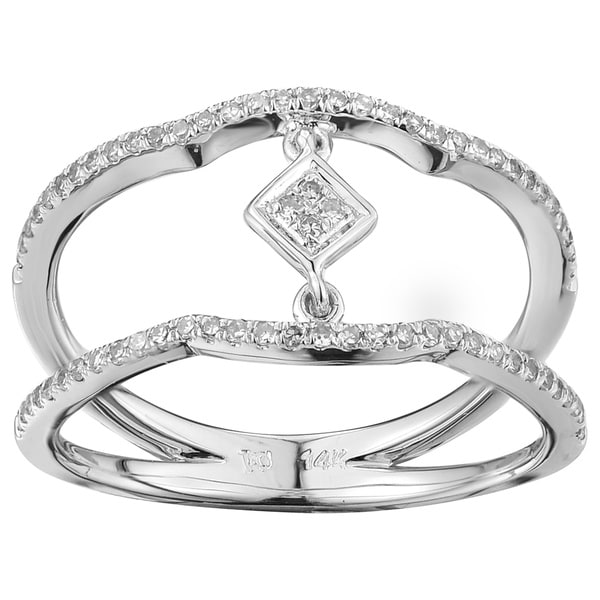 14k White Gold 1/4ct TDW White Diamond Engagement Ring 14635564