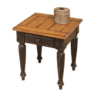 Country Vista Antique Black/ Oak End Table