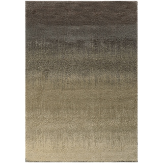 Ombre Shag Grey/ Beige Rug (5'3 x 7'6)