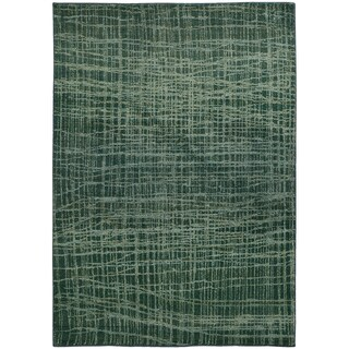 Pantone Universe Expressions Abstract Blue/ Green Rug (4' x 5'9)