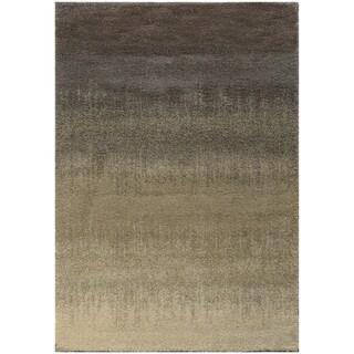 Ombre Shag Grey/ Beige Rug (3'3 x 5'5)