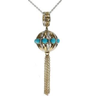 Michael Valitutti Palladium Silver Sleepint Beauty Turquoise Pendant