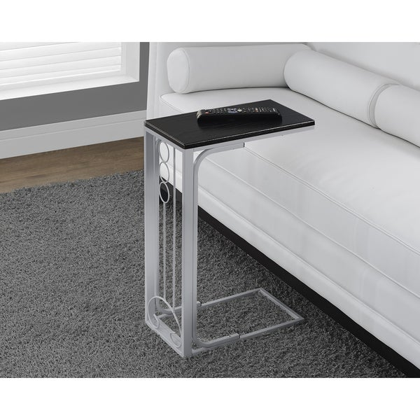 Black Top/ White Metal Accent Table