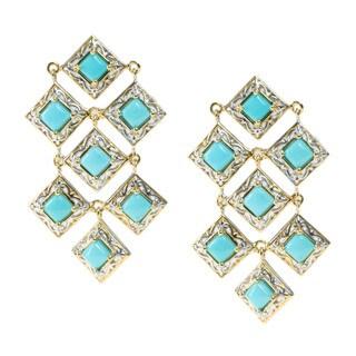 Michael Valitutti Palladium Silver Sleeping Beauty Turquoise Earrings
