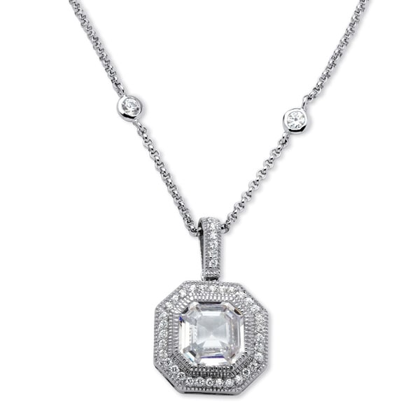 PalmBeach 5.45ct TCW Cubic Zirconia Glam Necklace
