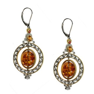 Michael Valitutti Amber Madiera Citrine Orange Sapphire Earrings