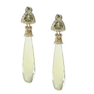 Michael Valitutti Oro Verde Chrome Diopside Earrings