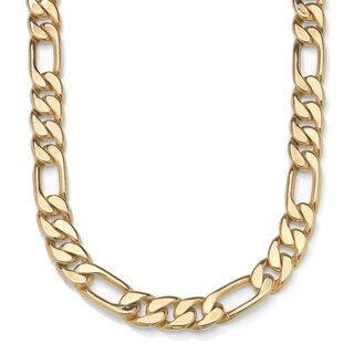 PalmBeach Yellow Goldtone Men's Figaro Chain Necklace