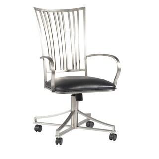 Ashton Black Fan Back Swivel Arm Chair