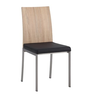 Somette Alyson Light Oak and Black Side Chair (Set of 2)