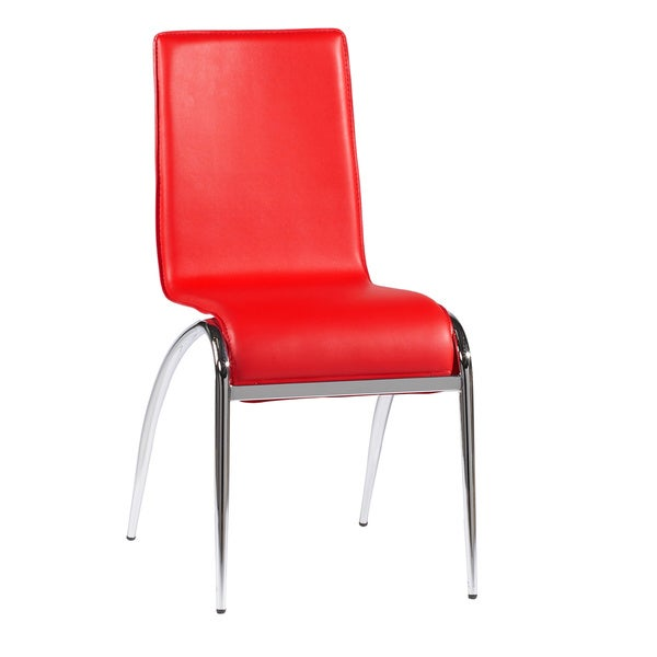 Somette Laine Red Arch Leg Side Chair (Set of 4)
