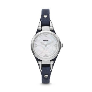Fossil Women's ES3429 Mini Georgia White Mother of Pearl Watch