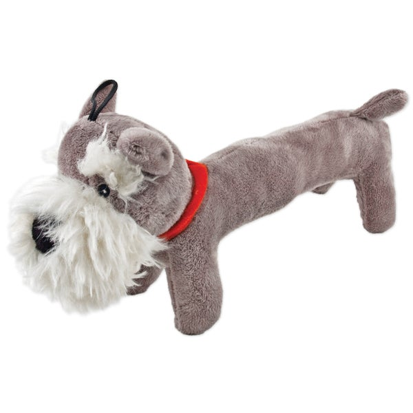 Fetch-A-Pal With Squeaker Plush Schnauzer Dog Toy-