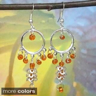 Tiara Global Hand-crafted Dancing Beads Dangle Earrings