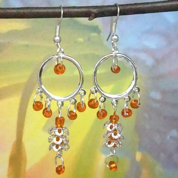 Tiara Global Hand-crafted Dancing Beads Dangle Earrings