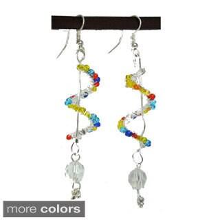Tiara Global Spiral Drop Beads Dangle Earrings