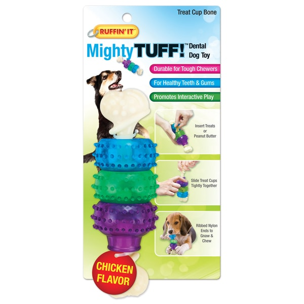 Mighty Tuff Treat Cup Bone Dog Toy- 14636740