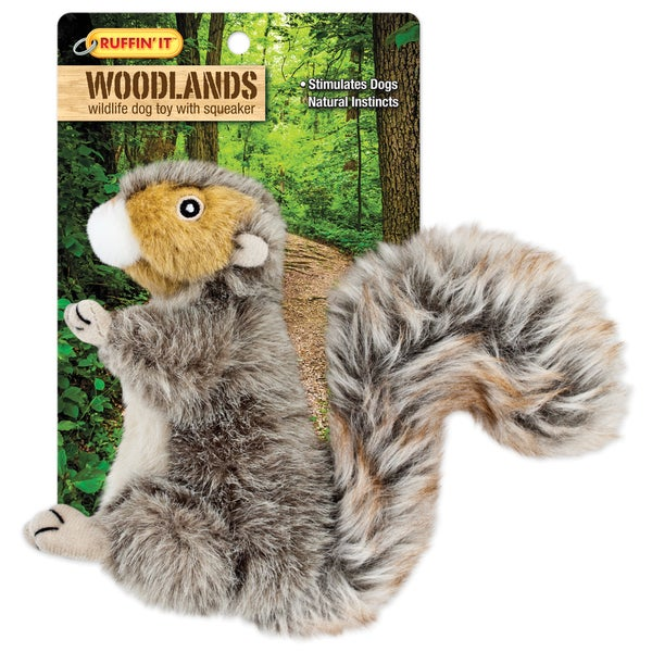 Woodlands Small Plush Squirrel Dog Toy-