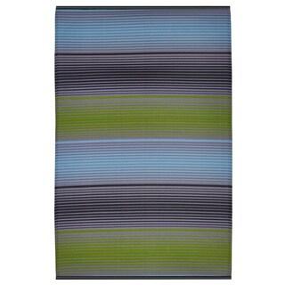 India Berlin Green Multicolor Area Rug (4' x 6')