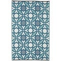 Seville Recycled Indo Multicolor Blue Rug (4' x 6')