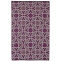 Seville Indo Multicolor Purple Recycled Rug (4' x 6')