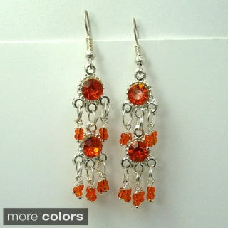 Tiara Global Hand-crafted Bead Sparkling Dangle Earrings