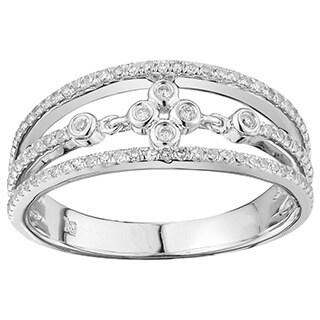 10k White Gold 1/3ct TDW Diamond Ring (G-H, I2-I3)