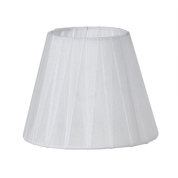 Sheer White Ribbon Lamp Shade