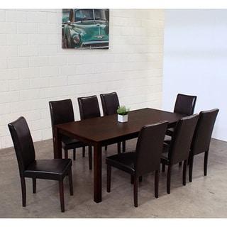 Warehouse Of Tiffany 9 Piece Black Juno Table Dining Set