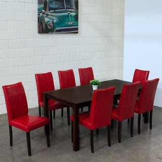 Warehouse of Tiffany Eveleen Red 9-piece Dining Set