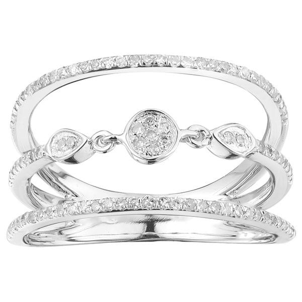 10k White Gold 1/3ct TDW Circle Diamond Ring (G-H, I2-I3)