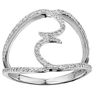 10k White Gold 1/3ct TDW Diamond Dual Hook Ring (G-H, I2-I3)