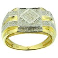 10k Yellow Gold Men's 1/2ct TDW Diamond Ring (G-H, I2-I3)