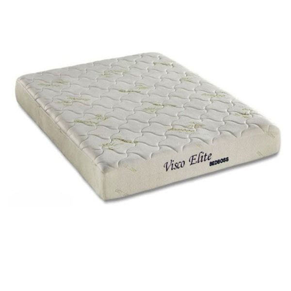 Bed Boss Elite 8-inch Queen-size Memory Foam Mattress with 2 Pillows