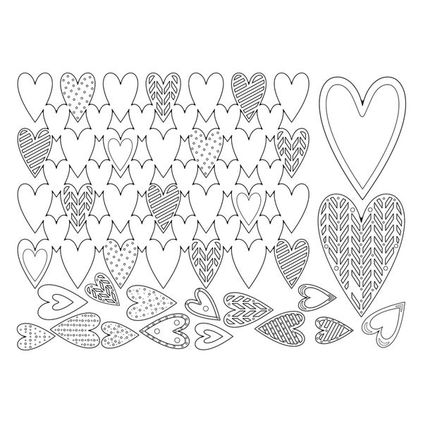Sizzix Thinlits Dies 7/Pkg-Heart Card Front/Layering Shapes