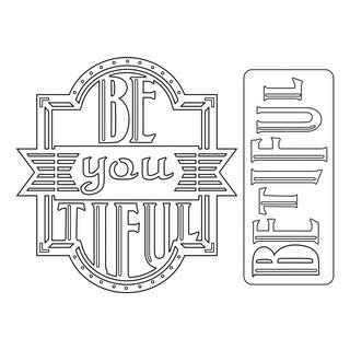 Sizzix Thinlits Dies 2/Pkg-Be-You-Tiful Phrase