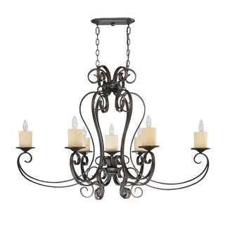 Stafford Spring Collection 7-light Hanging Antique Bronze Pendant