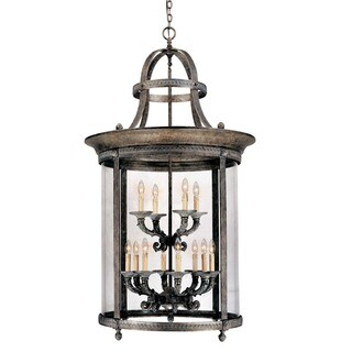 Chatham Collection 12-light French Bronze Hanging Interior Lantern