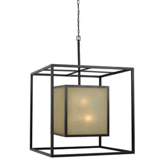 Hilden 12-light Aged Bronze Square Hanging Pendant