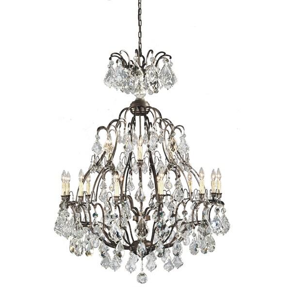 Timeless Elegance 18-light Bronze Hanging Chandelier