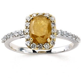 Neda Behnam DFAC 18k Two-tone Gold 1 5/8ct TDW Yellow and White Diamond Ring (G-H, VS1-VS2)