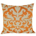 Ikat Detail 20-inch Orange Feather-filled Throw Pillow