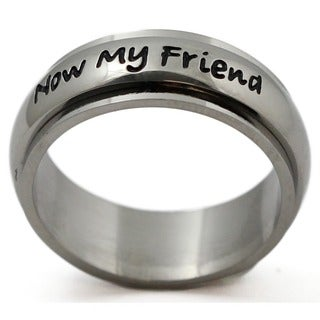 Stainless Steel 'Always My Daughter, Now Too My Friend' Ring