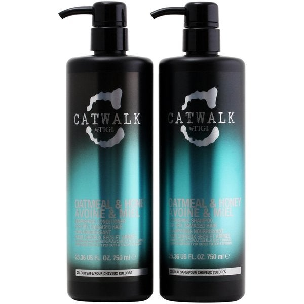 TIGI Catwalk Oatmeal & Honey 25.36-ounce Shampoo and Conditioner Duo