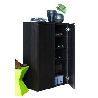 Rafael Wood Espresso-finish Shoe Cabinet