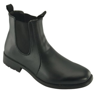 Men's 'Chelsea' Black Faux Nubuck Pull-on Boots