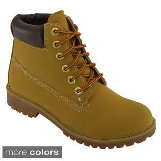 Women's Lace-Up Rugged Boots