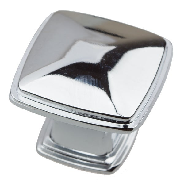 GlideRite 1.25-inch Polished Chrome Square Deco Cabinet Knobs